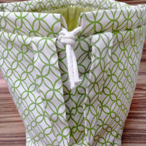 Concentric Circles Drawstring Project Bag
