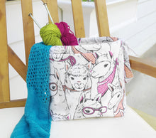 Llama Drawstring Project Bag