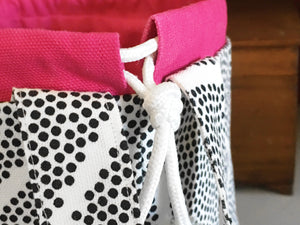 Dotted Jumper Drawstring Project Bag