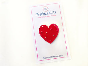 packaging example of our red enamel heart pin