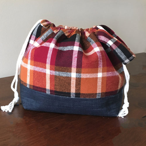 Fall Harvest Plaid Jumper Project Bag