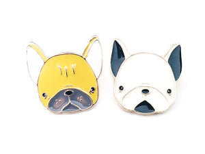 Boston Terrier Dog Enamel Pins for Knitting Project Bags