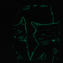 Halloween Glow in the Dark Killer Cats Skein Coat
