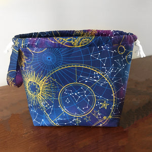 Constellation Large Drawstring Project Bag