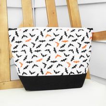Halloween Bat's Zippered Project Bag