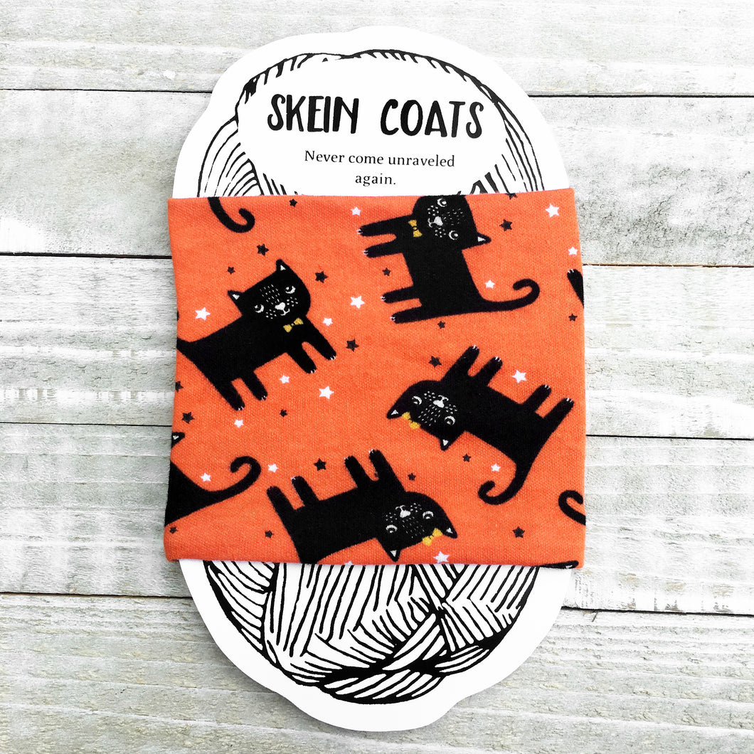 Halloween Black Cats Skein Coat