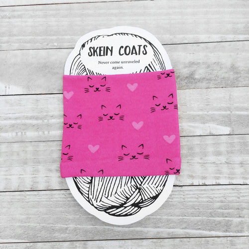 Hot Pink Cat Skein Coat