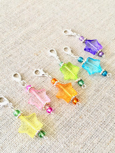 Lightweight Rainbow Star Knitting Stitch Markers