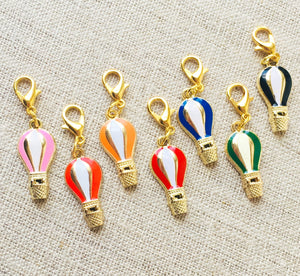 Enamel Hot Air Balloon Stitch Markers