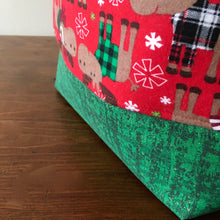 Merry Christ-Moose Drawstring Project Bag