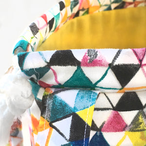 Colorful Kaleidscope Jumper Drawstring Project Bag