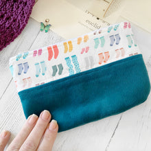 Sock Knitting Zippered Notions Pouch