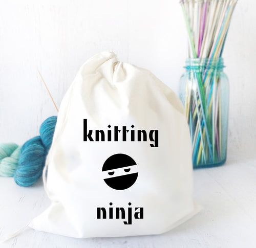 Knitting Ninja Shawl Project Bag