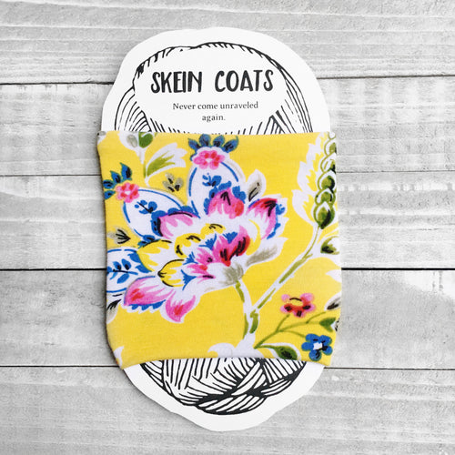 Yellow Floral Skein Coat