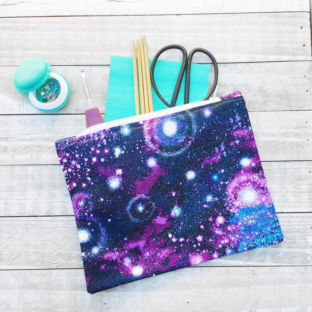 Milky Way Zippered Case for Knitting Tools