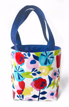 Drawstring Modern Floral Project Tote Bag