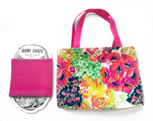 Hot Pink Monet Pink Floral Drawstring Project Bag