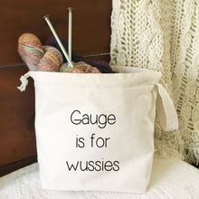 Gauge is for Wussies Drawstring Project Bag