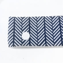 Navy Blue Knit Print DPN Holder or Cozie