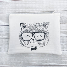 Nerdy Cat Zippered Pouch