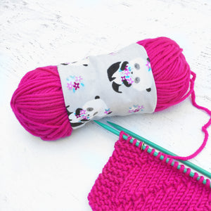 Panda Bear Yarn Bowl Skein Coat