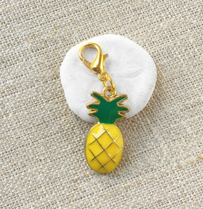 Enamel Pineapple Stitch Markers