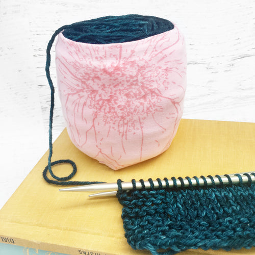 Pink Lily Skein Coat Yarn Keeper