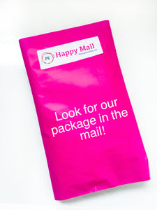 our products are shipped in a hot pink polymailer