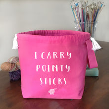 I Carry Pointy Sticks Drawstring Project Bag