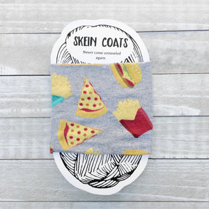 Pizza & Fries Skein Coat