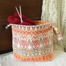 Pumpkin Spice Drawstring Project Bag