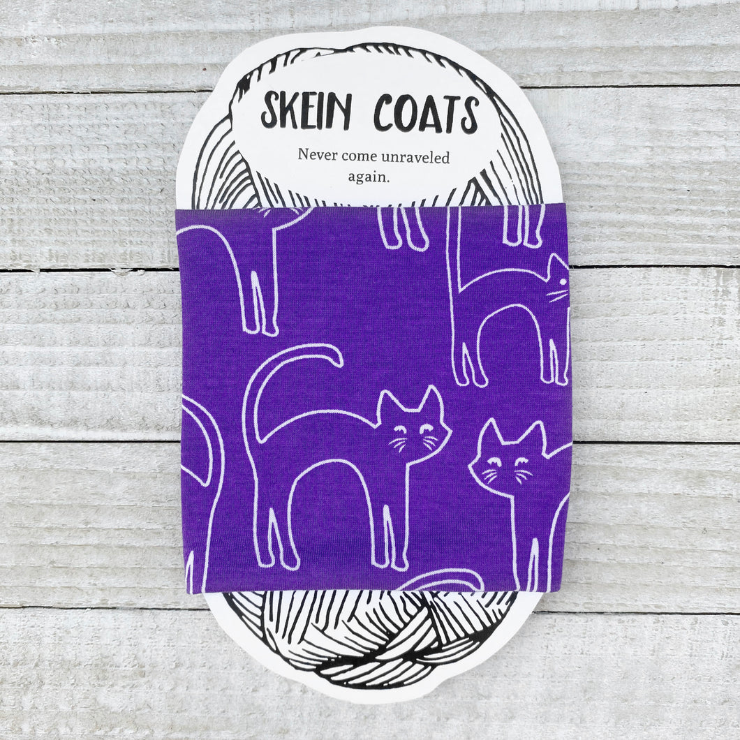 Halloween Purple Cat Skein Coat