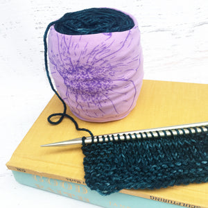 Purple Lily Skein Coat Yarn Keeper