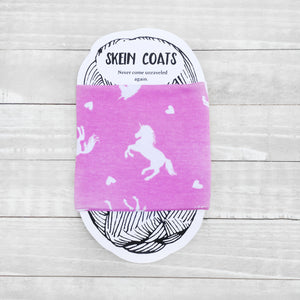 Pink Jumping Unicorn Skein Coat
