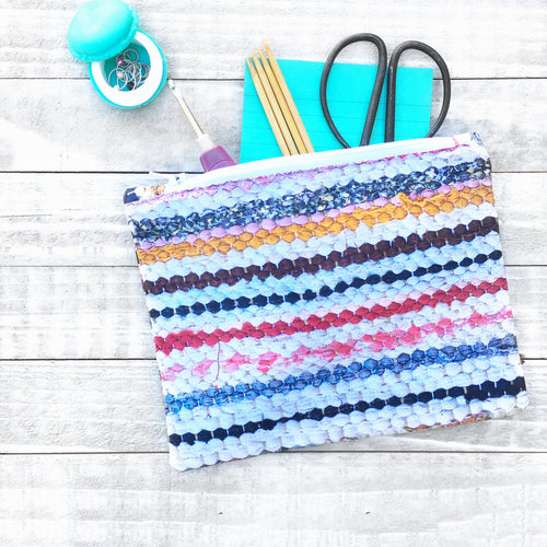 Rag Rug Zippered Bag