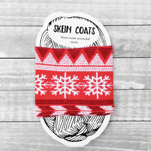 Red Scandinavian Christmas Skein Coat