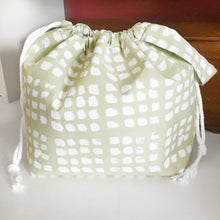 Stepping Stone Light Green  Jumper Drawstring Project Bag