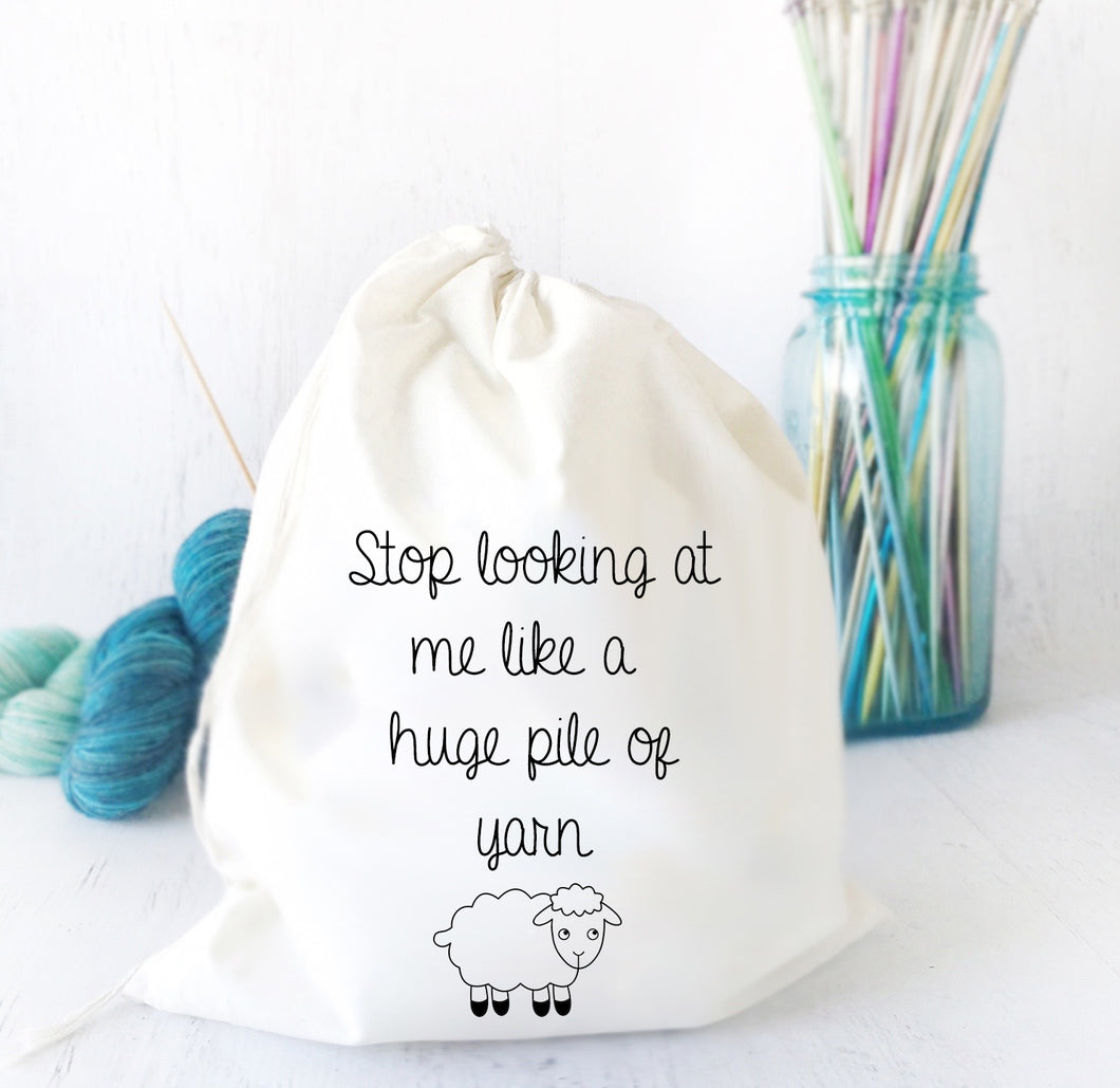 Knitting Bag Gift for Mom - I do all my own knitting stunts