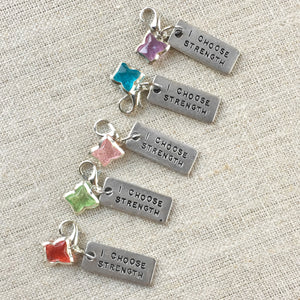Inspirational Choose Strength Stitch Marker