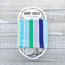 Striped Spring Beach Blanket Skein Coat Yarn Keeper