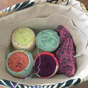 Luxury Linen Drawstring Project Bag