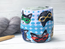 Superhero Cat Lover Yarn Organizer Skein Coats