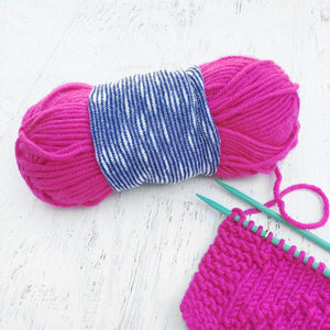 Striped Blue Yarn Bowl Skein Coat