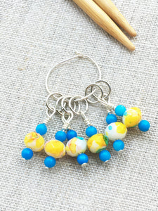 Set of 6 Spring Knitting Stitch Markers