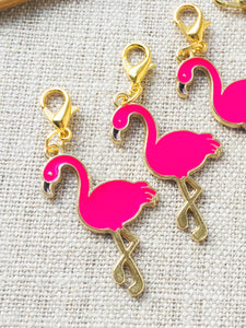 Pink Flamingo Stitch Markers