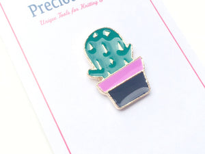 enamel cactus pin with packaging