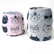 Pink & Gray Cat Lovers Yarn Bowl