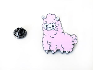 Pink or Blue Cartoon Sheep Hard Enamel Pin for Fiber Shares & Pin Games