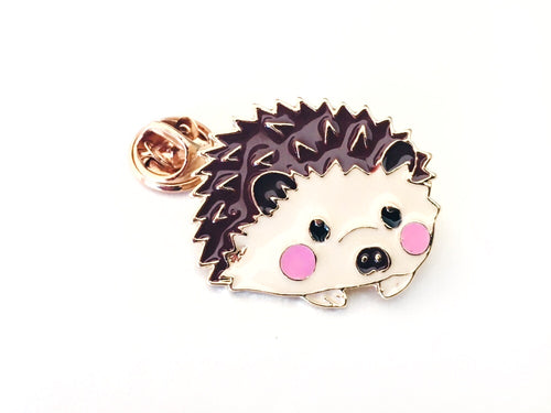 Hedgehog Lover Enamel Pin for Fiber Shares and Yarn Swaps