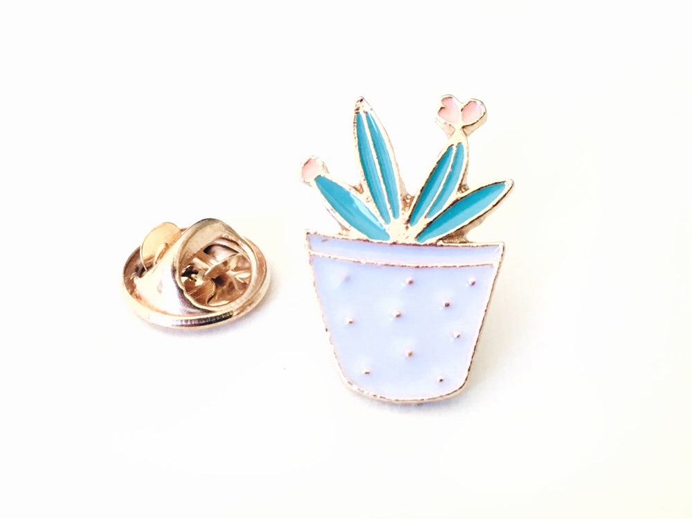 Cactus Succulent Enamel Pin Lapel Pin for Fiber Swaps